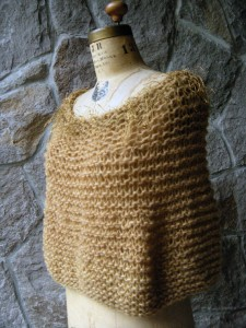 Gold Sparkle Capelet left etsy