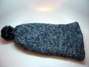 Wool Less Unisex Stocking Cap in Denim Blues