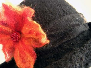 Tulle & Felted Flower Front Band etsy