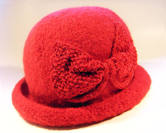 Red Sparkle Cloche